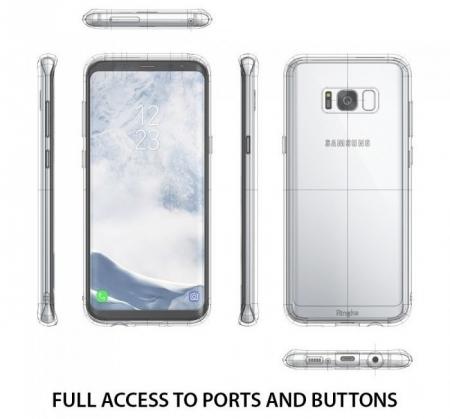 Husa Ringke Fusion Smoke Black pentru Samsung Galaxy S83