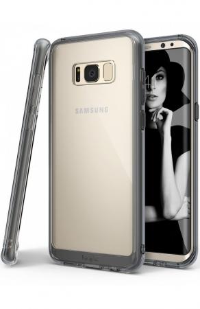 Husa Ringke Fusion Smoke Black pentru Samsung Galaxy S80