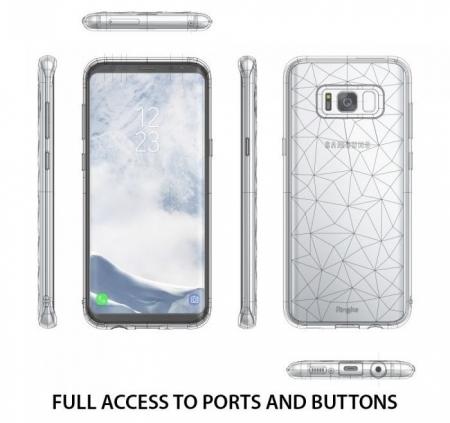 Husa Ringke Prism Rose Gold pentru Samsung Galaxy S82