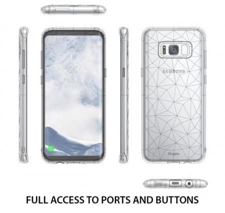 Husa Ringke Prism Smoke Black pentru Samsung Galaxy S84