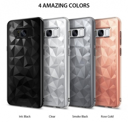 Husa Ringke Prism Smoke Black pentru Samsung Galaxy S81