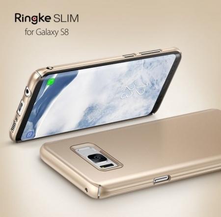 Husa Ringke Slim Blue Pearl pentru Samsung Galaxy S82