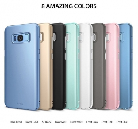 Husa Samsung Galaxy S8 Ringke Slim Frost Gray4