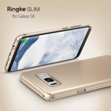 Husa Ringke Slim Royal Gold pentru Samsung Galaxy S82