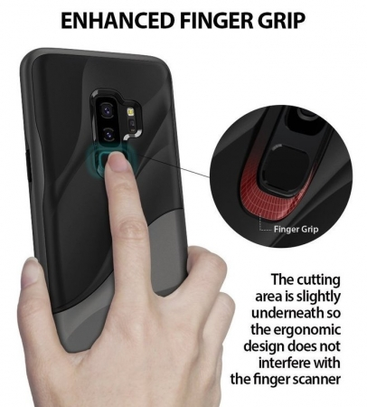 Husa Ringke Wave Black pentru Samsung Galaxy S9 Plus0