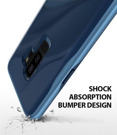 Husa Ringke Wave Blue Navy pentru Samsung Galaxy S9 Plus3