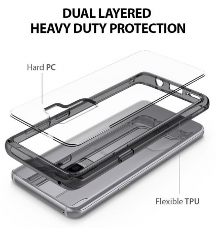 Husa Ringke Fusion Transparent-Fumuriu pentru Samsung Galaxy S92