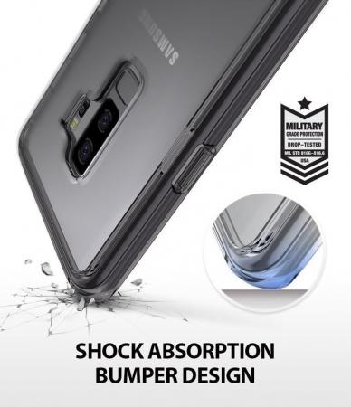 Husa Ringke Fusion Transparent-Fumuriu pentru Samsung Galaxy S91