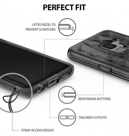 Husa Ringke Air Prism Grey Glitter pentru Samsung Galaxy S94