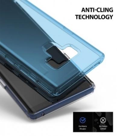 Set Ringke Air husa + portcard + strap albastru pentru Samsung Galaxy Note 92