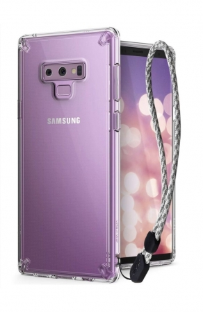 Set Ringke Air husa + portcard + strap transparent pentru Samsung Galaxy Note 97