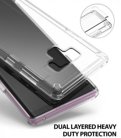 Set Ringke Air husa + portcard + strap transparent pentru Samsung Galaxy Note 96