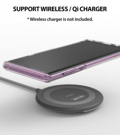 Set Ringke Air husa + portcard + strap transparent pentru Samsung Galaxy Note 91
