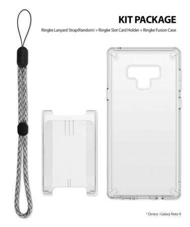 Set Ringke Air husa + portcard + strap transparent pentru Samsung Galaxy Note 90
