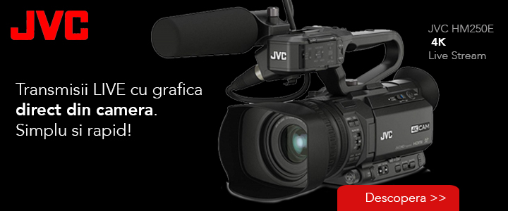 JVC live si grafica direct din camera
