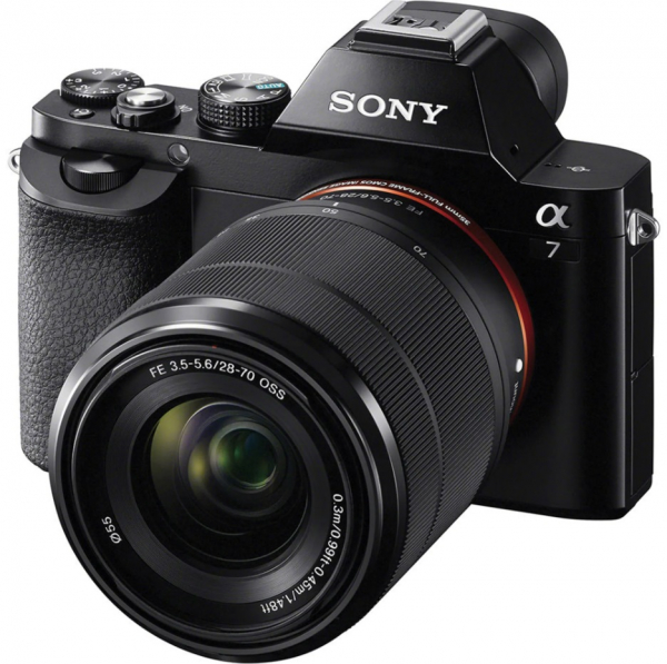 Sony Kit Aparat Foto Mirrorless A7 24MP Full Frame Full HD cu Obiectiv 28-70 F/3.5-5.6 OSS 0