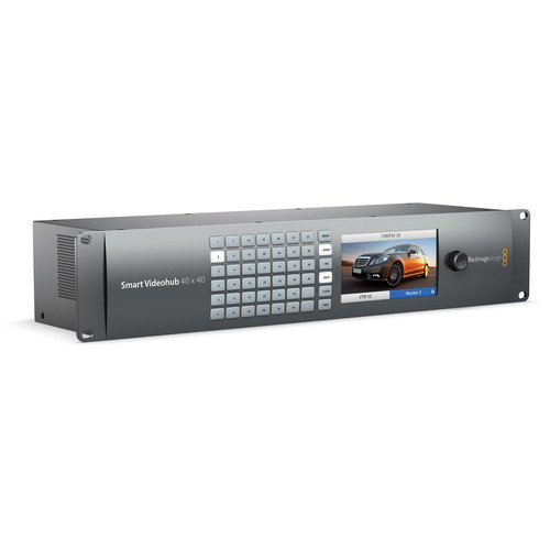 Blackmagic, Design, Smart, Videohub, 40 x 40, 6G-SDI, router, VHUBSMART6G4040 0