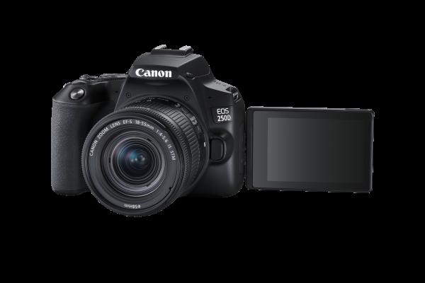 Canon EOS 250D Aparat Foto DSLR Kit cu Obiectiv EF-S 18-55mm IS STM Negru [3]