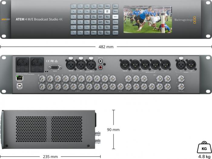 Blackmagic Design ATEM 4 M/E Broadcast Studio Switcher 4K 2