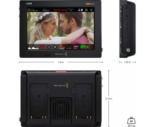 "Blackmagic Monitor Video Assist 4k 7"" 12G/HDMI HDR - recorder [5]"