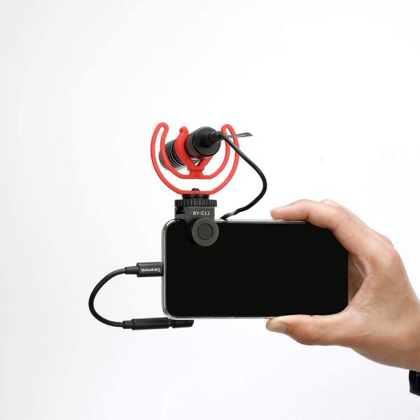 Boya sistem prindere microfon pentru smartphone 2
