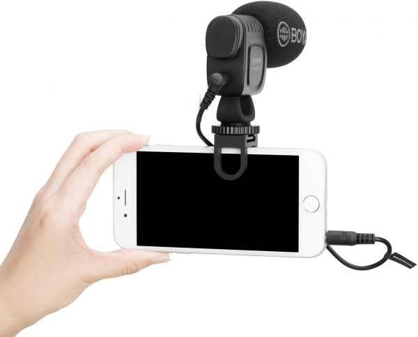 Boya sistem prindere microfon pentru smartphone 3