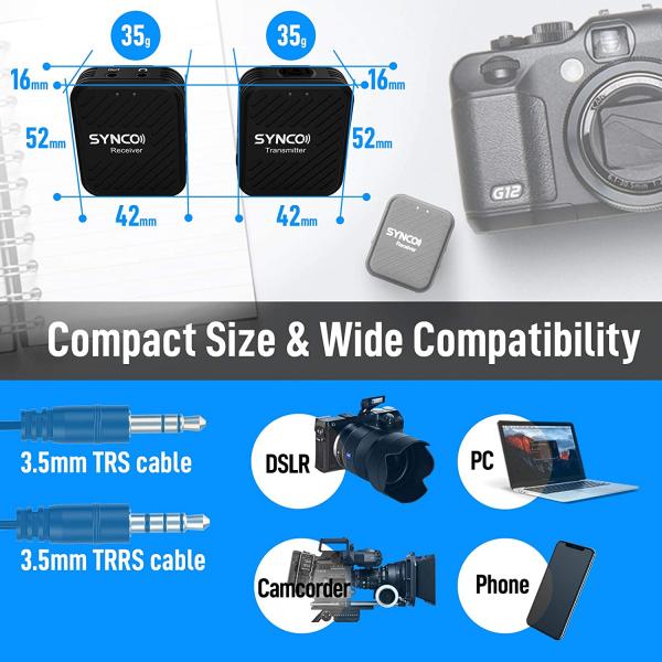 Synco G1 Lavaliera Wireless compact 4