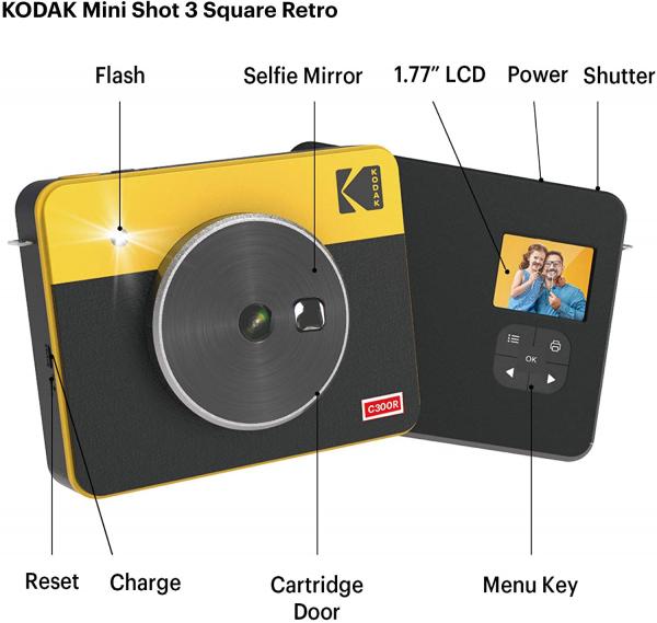 Kodak MiniShot Combo Retro camera foto instant si imprimanta 5