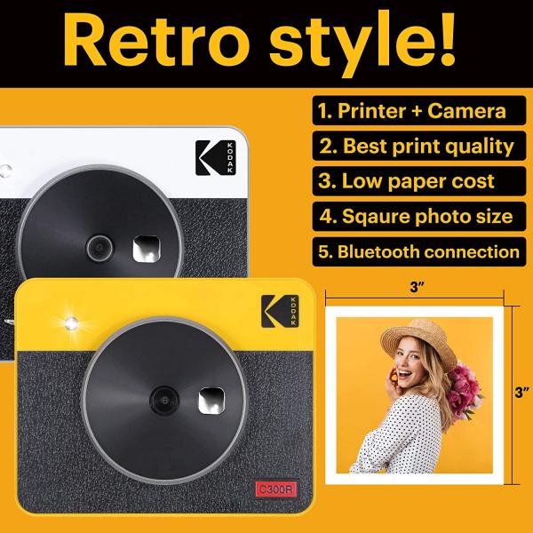 Kodak MiniShot Combo Retro camera foto instant si imprimanta 8
