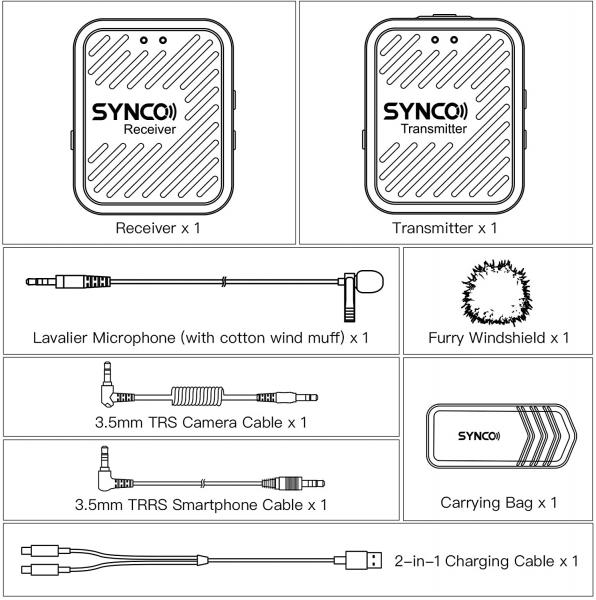 Synco G1 Lavaliera Wireless compact 11