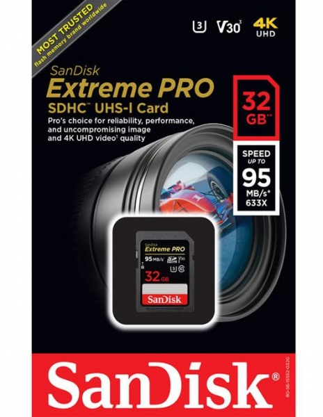 SanDisk 32GB Extreme PRO SDHC UHS-I card memorie 1
