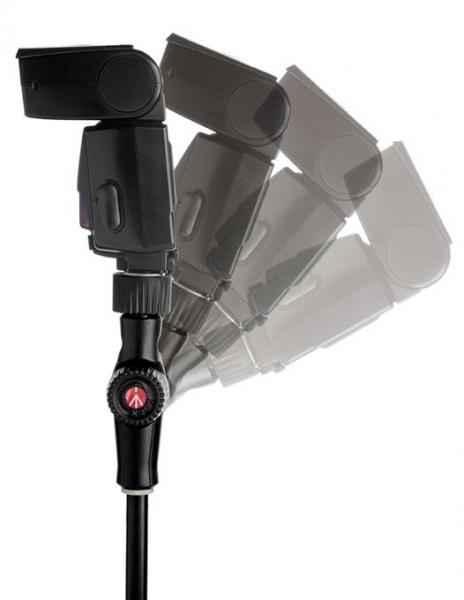 Manfrotto Smart Tilt suport umbrela cu patina pentru blitz 1