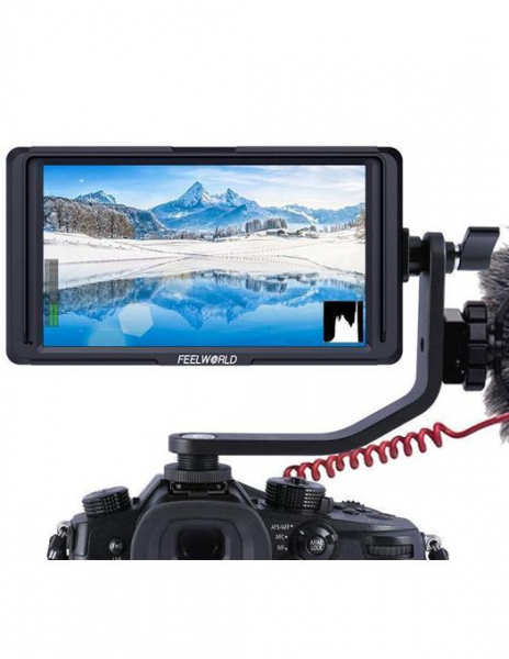 "Pachet FeelWorld F5 Monitor video 5"" Full HD 4K HDMI cu acumulator si incarcator 0"