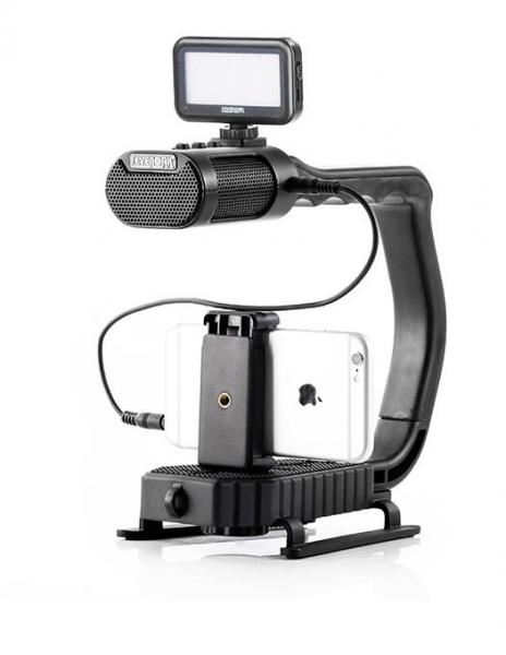 MicRig Stereo maner cu microfon pentru camere video 7