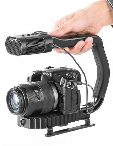 MicRig Stereo maner cu microfon pentru camere video 0
