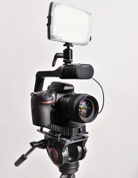 MicRig Stereo maner cu microfon pentru camere video 5