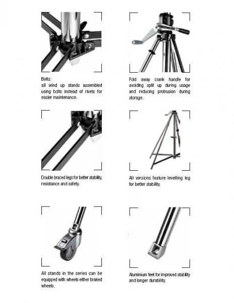 Manfrotto Short Wind Up Stand 087NWSH 1