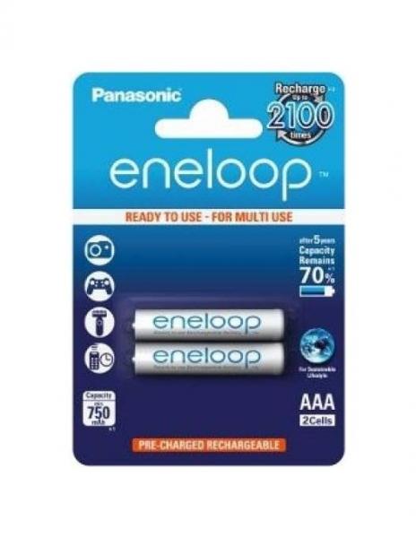 Panasonic Acumulatori Eneloop 2xAAA 750mAh 0