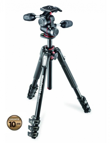 Manfrotto 190XPRO4-3W Kit trepied foto 0