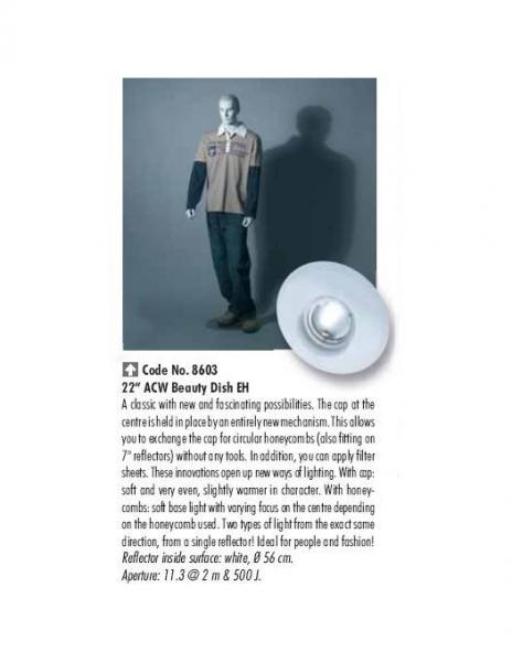 Hensel 8608 beauty reflector argintiu 1