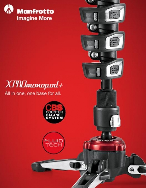 Manfrotto MVMXPROC5 Monopied video fluid carbon 5 sectiuni 4