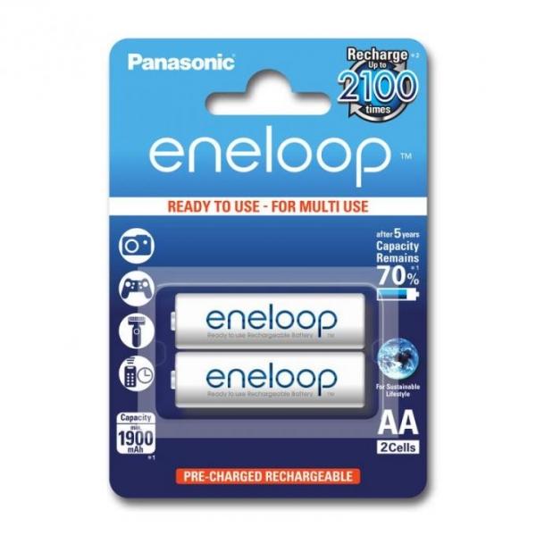 Panasonic Acumulatori Eneloop 2xAA 1900mAh 0