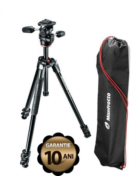 Manfrotto Kit Trepied 290 XTRA, cu cap 3Way si husa 0