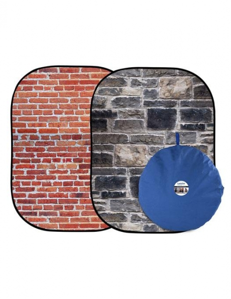 Lastolite fundal pliabil Red Brick/Grey Stone 1.5 x 2.1m 0