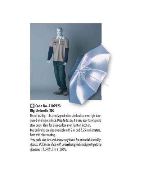 Hensel 4107923 umbrela jumbo 200 cm 1