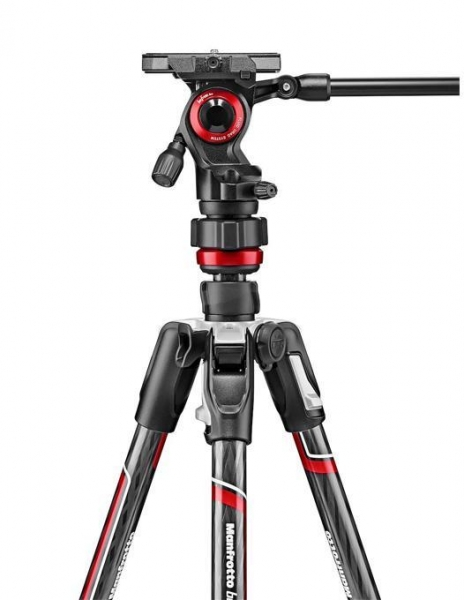 Manfrotto Befree Advanced Live Carbon trepied cu twist si cap video