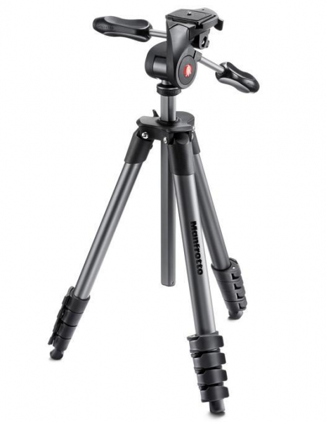 Manfrotto Compact Advanced kit trepied foto cu cap 3-Way si husa 2