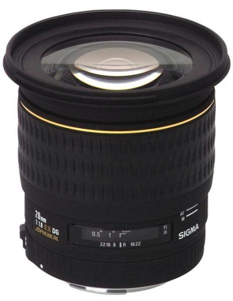 Sigma 20mm F1,8 EX Aspheric DG-Canon 1