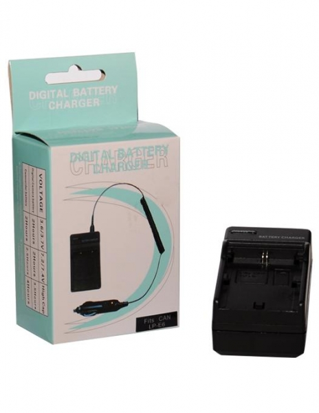 Digital Power Incarcator priza + bricheta auto compatibil Canon LP-E6 0