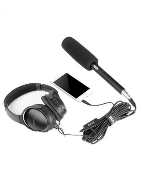 Boya BY-BCA6 cablu conector XLR/TRRS pentru microfon si smartphone 1